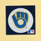 1991 Ultra Baseball Team Logo Stickers Milwaukee Brewers