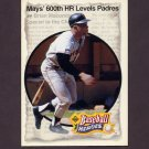 1993 Upper Deck Baseball Mays Heroes #51 1969 600-Home Run Club / Willie Mays
