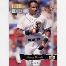 1993 Upper Deck Baseball Future Heroes #56 Barry Bonds - San Francisco Giants