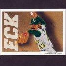 1993 Upper Deck Baseball #814 Oakland A's Team Checklist / Dennis Eckersley
