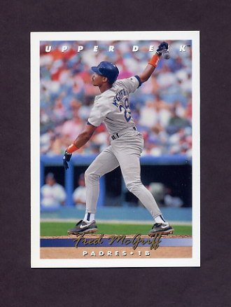 1993 Upper Deck Baseball #577 Fred McGriff - San Diego Padres