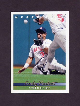 1993 Upper Deck Baseball #565 Kirby Puckett - Minnesota Twins