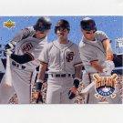 1993 Upper Deck Baseball #476 Will Clark / Barry Bonds / Matt Williams - San Francisco Giants