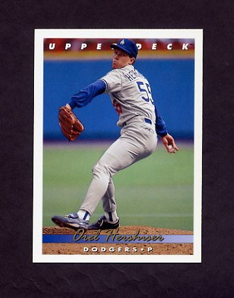 1993 Upper Deck Baseball #169 Orel Hershiser - Los Angeles Dodgers