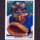 1993 Upper Deck Baseball #123 Ivan Rodriguez - Texas Rangers