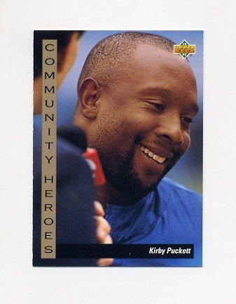 1993 Upper Deck Baseball #034 Kirby Puckett CH - Minnesota Twins