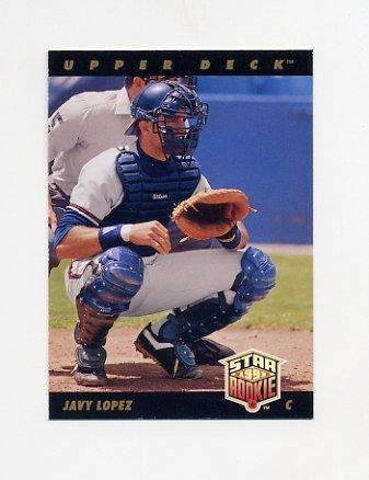 1993 Upper Deck Baseball #029 Javier Lopez - Atlanta Braves