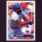 1993 Donruss Baseball #615 Joe Carter - Toronto Blue Jays