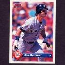 1993 Donruss Baseball #609 Don Mattingly - New York Yankees
