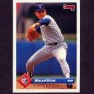 1993 Donruss Baseball #423 Nolan Ryan - Texas Rangers
