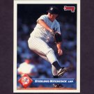 1993 Donruss Baseball #345 Sterling Hitchcock RC - New York Yankees