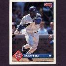 1993 Donruss Baseball #186 Sammy Sosa - Chicago Cubs