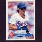 1993 Donruss Baseball #159 Jose Canseco - Texas Rangers