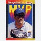 1989 Donruss Baseball Bonus MVP's #BC07 George Brett - Kansas City Royals