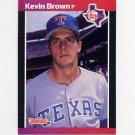 1989 Donruss Baseball #613 Kevin Brown - Texas Rangers