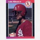 1989 Donruss Baseball #466 Luis Alicea RC - St. Louis Cardinals
