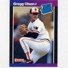 1989 Donruss Baseball #046 Gregg Olson RC - Baltimore Orioles