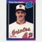1989 Donruss Baseball #044 Pete Harnisch RC - Baltimore Orioles