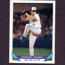 1993 Topps Baseball #720 David Cone - Toronto Blue Jays