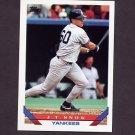 1993 Topps Baseball #422 J.T. Snow RC - New York Yankees