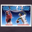 1993 Topps Baseball #411 Lee Smith - St. Louis Cardinals / Dennis Eckersley - Oakland A's AS