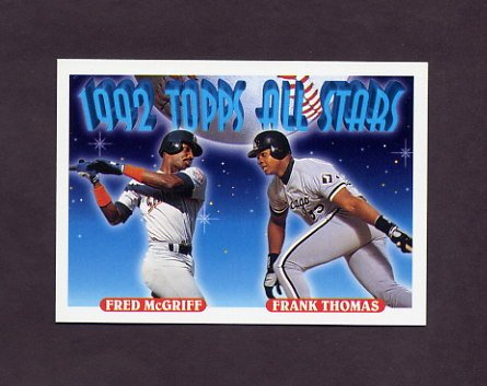 1993 Topps Baseball #401 Fred McGriff - San Diego Padres / Frank Thomas - Chicago White Sox AS