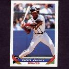 1993 Topps Baseball #393 Ron Gant - Atlanta Braves