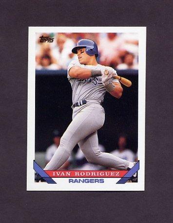 1993 Topps Baseball #360 Ivan Rodriguez - Texas Rangers