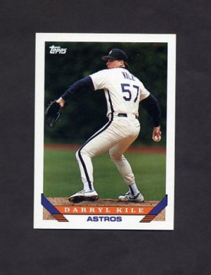1993 Topps Baseball #308 Darryl Kile - Houston Astros