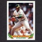 1993 Topps Baseball #290 Dave Stewart - Oakland A's