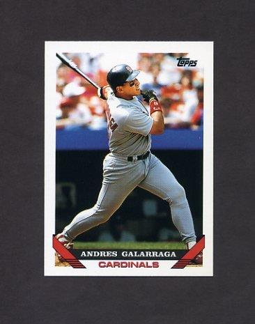 1993 Topps Baseball #173 Andres Galarraga - St. Louis Cardinals