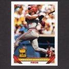 1993 Topps Baseball #083 Reggie Sanders - Cincinnati Reds