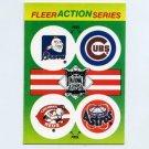 1990 Fleer Baseball Action Series Team Logo Stickers Braves / Cubs / Reds / Astros Team Logos