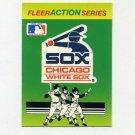 1990 Fleer Baseball Action Series Team Logo Stickers Chicago White Sox Team Logo