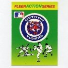 1990 Fleer Baseball Action Series Team Logo Stickers Detroit Tigers Team Logo
