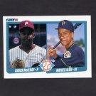 1990 Fleer Baseball #650 Moises Alou RC / Chuck McElroy