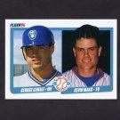 1990 Fleer Baseball #641 George Canale RC - Brewers / Kevin Maas RC - Yankees