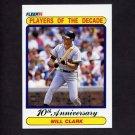 1990 Fleer Baseball #630A Will Clark - San Francisco Giants (Error)