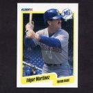 1990 Fleer Baseball #520 Edgar Martinez - Seattle Mariners