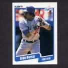 1990 Fleer Baseball #404 Eddie Murray - Los Angeles Dodgers