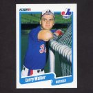 1990 Fleer Baseball #363 Larry Walker RC - Montreal Expos