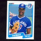 1990 Fleer Baseball #089 Fred McGriff - Toronto Blue Jays
