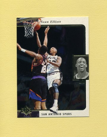 1995-96 SP Basketball #119 Sean Elliott - San Antonio Spurs