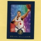 1995-96 E-XL Blue Basketball #038 Brian Williams - Los Angeles Clippers