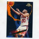 1995-96 Skybox Premium Basketball #036 Allan Houston - Detroit Pistons