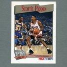 1991-92 Hoops Basketball #456 Scottie Pippen SC - Chicago Bulls