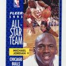 1991-92 Fleer Basketball #211 Michael Jordan AS - Chicago Bulls