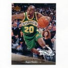 1995-96 Upper Deck Basketball Electric Court #017 Gary Payton - Seattle Supersonics