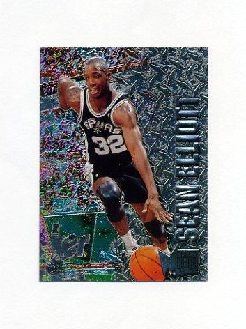 1996-97 Metal Basketball #089 Sean Elliott - San Antonio Spurs