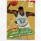 1996-97 Ultra Basketball #028 Samaki Walker RC - Dallas Mavericks